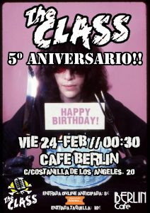 Cartel Quinto Aniversario THE CLASS